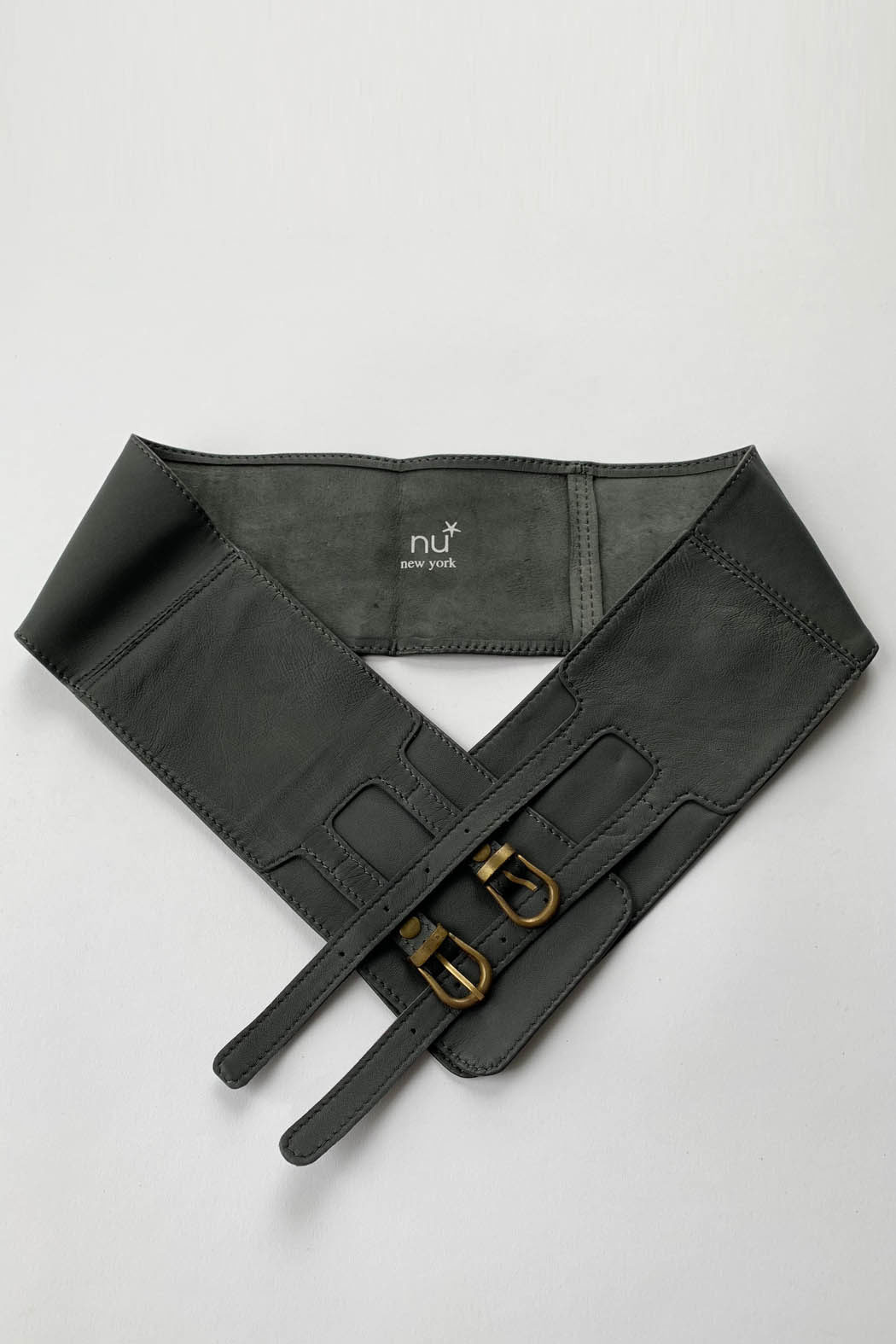 wb 2 buckles gray