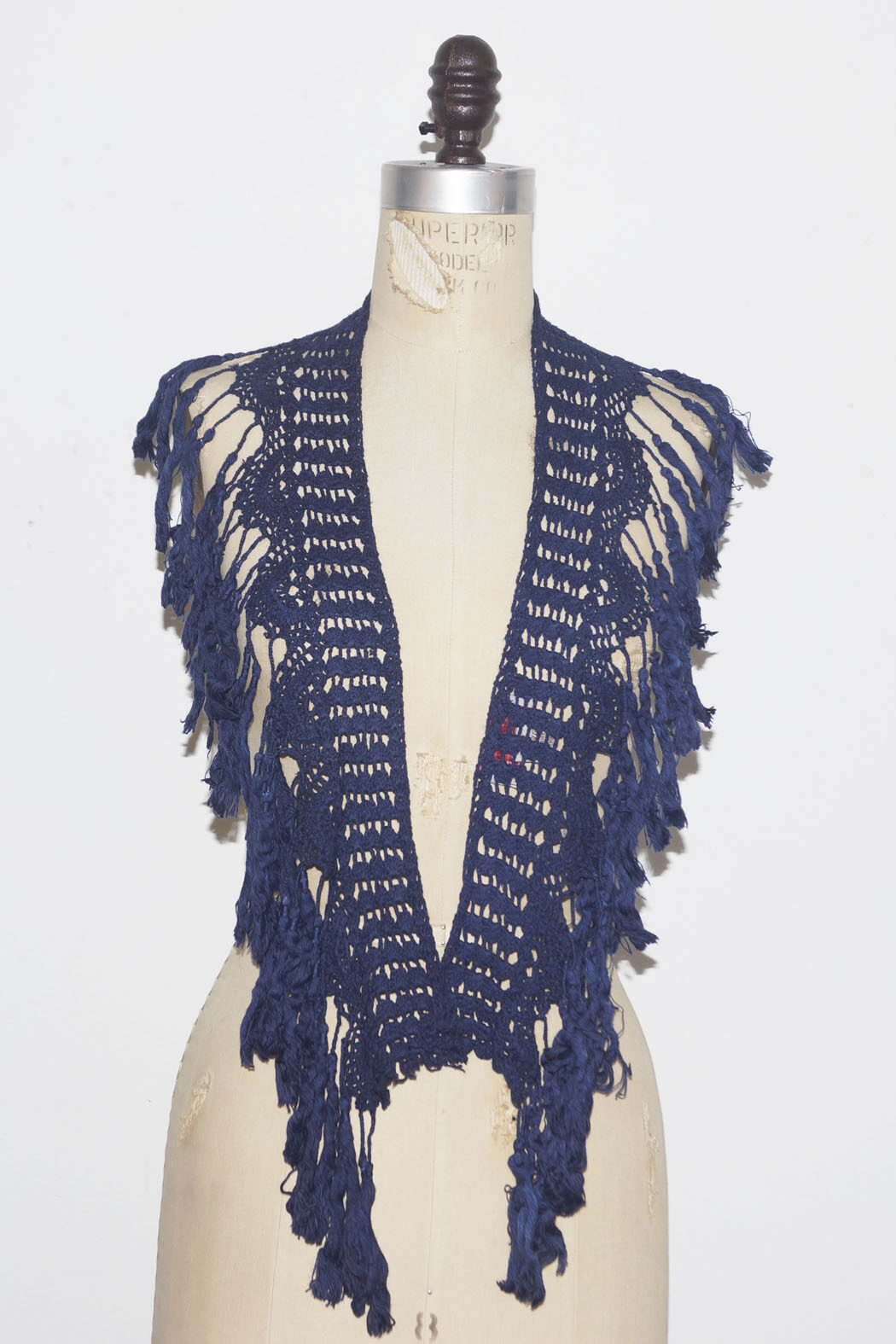 navy tassel cotton